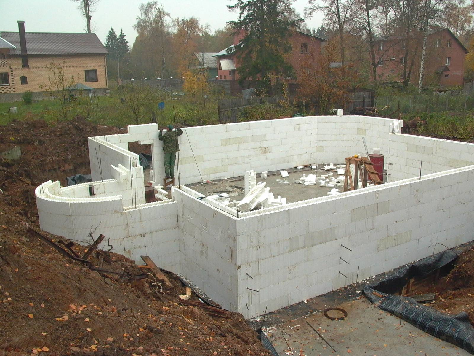 Дом из пенопласта и бетона своими руками 341